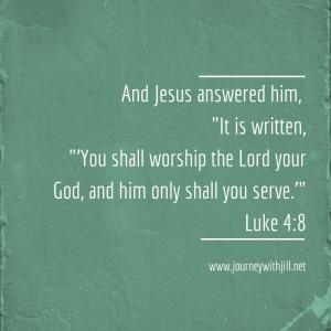Luke 4:8