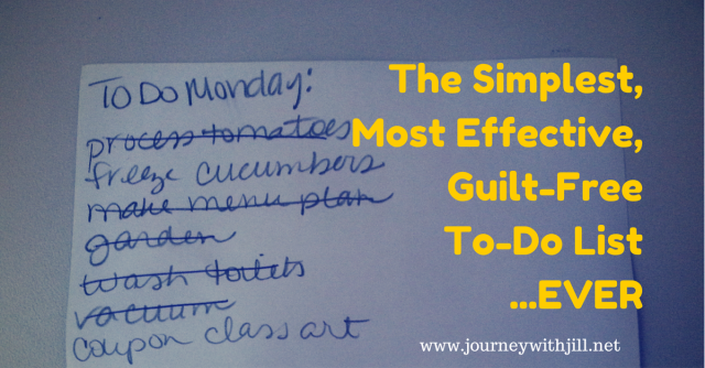 The Simplest, Most Effective, Guilt-Free To-Do List ...Ever